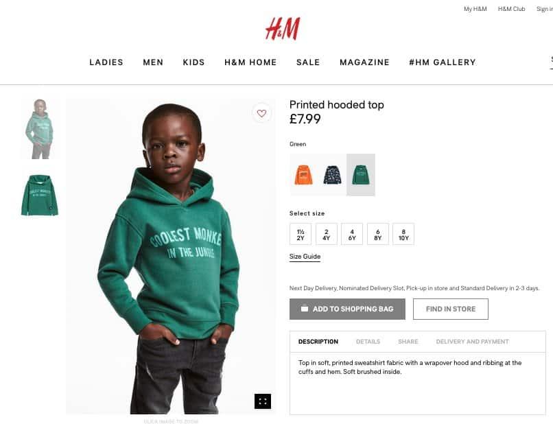 H&M, au cœur de la tourmente suite à une photo jugée raciste