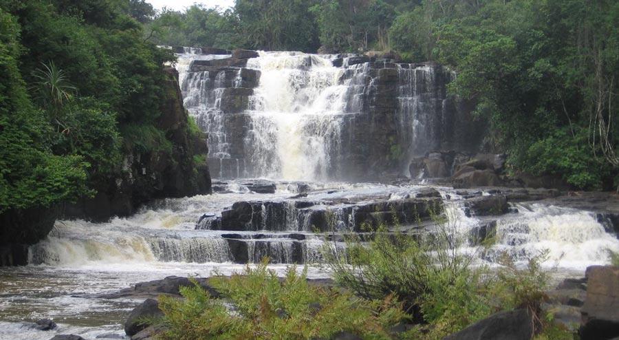 les eaux des chutes de la Saala