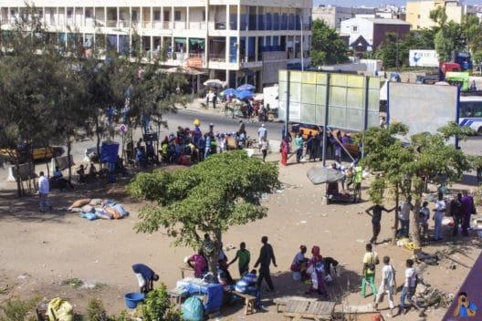 Une vue du quartier de la Patte d'Oie à Dakar, le 5 novembre 2019. © Kevya R. Mpele