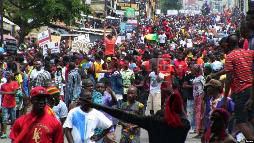 Manifestation anti-Condé à Conakry@Voa Afrique