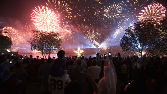 Video Watch The Worlds Largest Ever Firework Display
