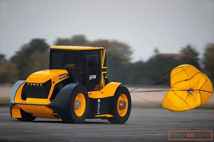 Guy Martin parashutë më e shpejtë e traktorit