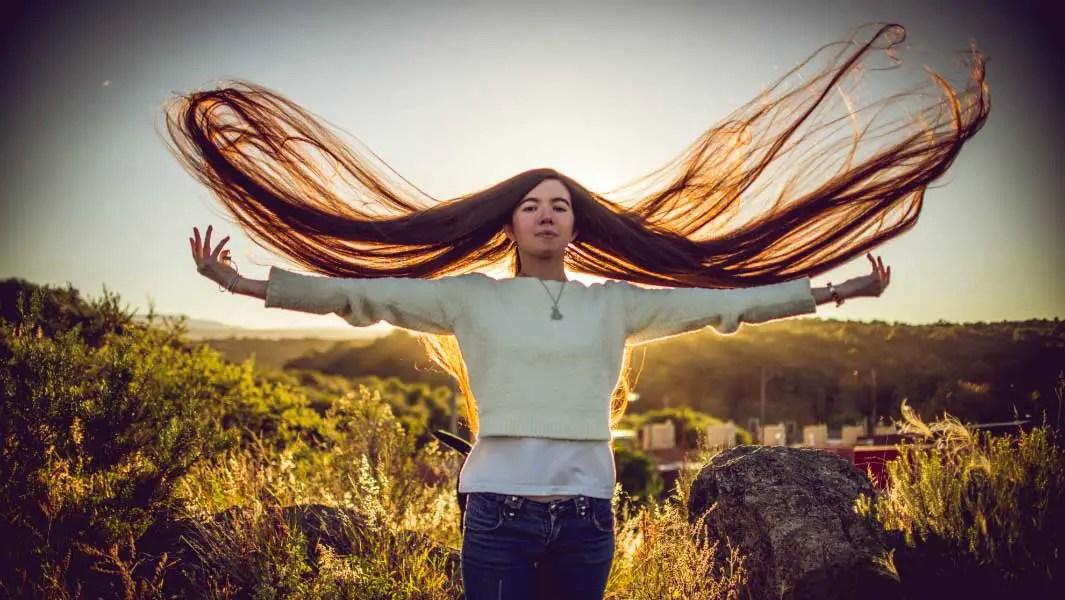 Teenage Girl Sets New Hair Record After Bad Haircut