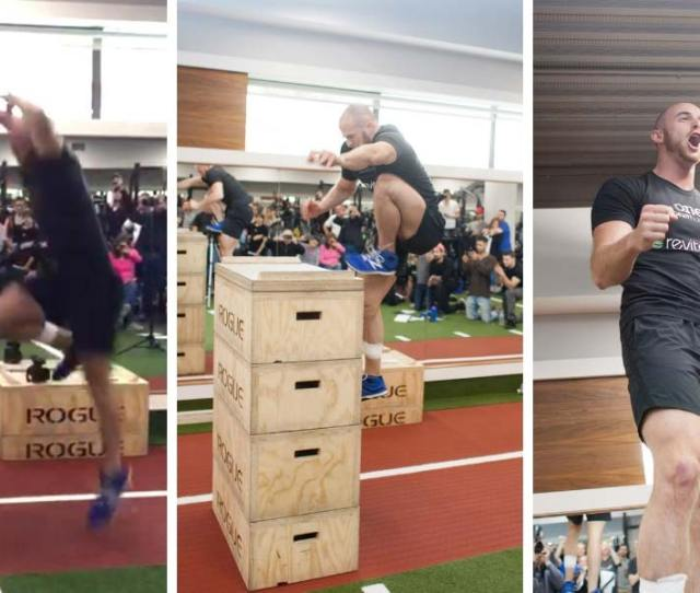 Evan Ungar From Canada Attempting The Highest Standing Jump On One Leg