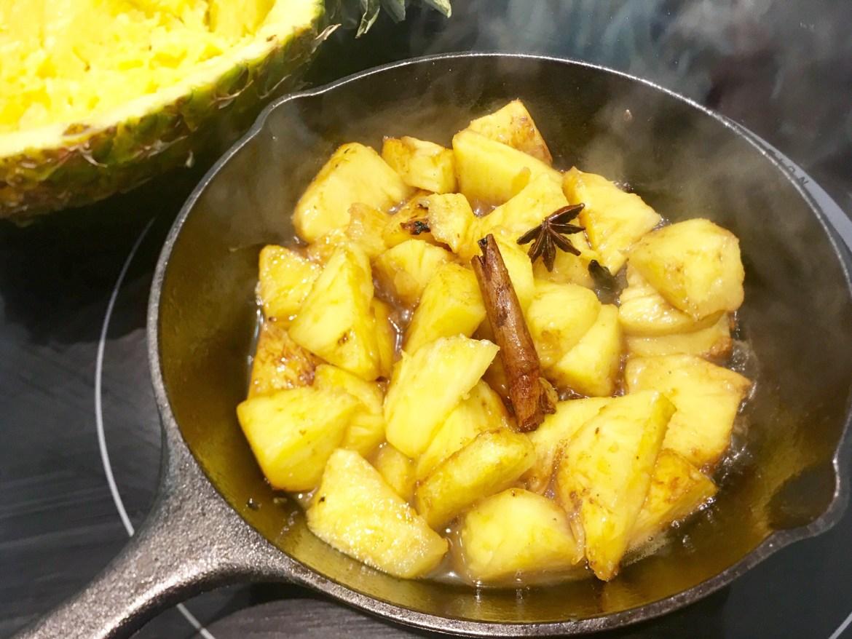 piña al horno Frutas Nieves