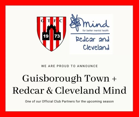 Announcement of Guisborough Town F.C. and Redcar & Cleveland Mind partnership