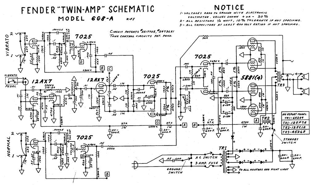 Schematic For Fender Excelsior, Schematic, Free Engine