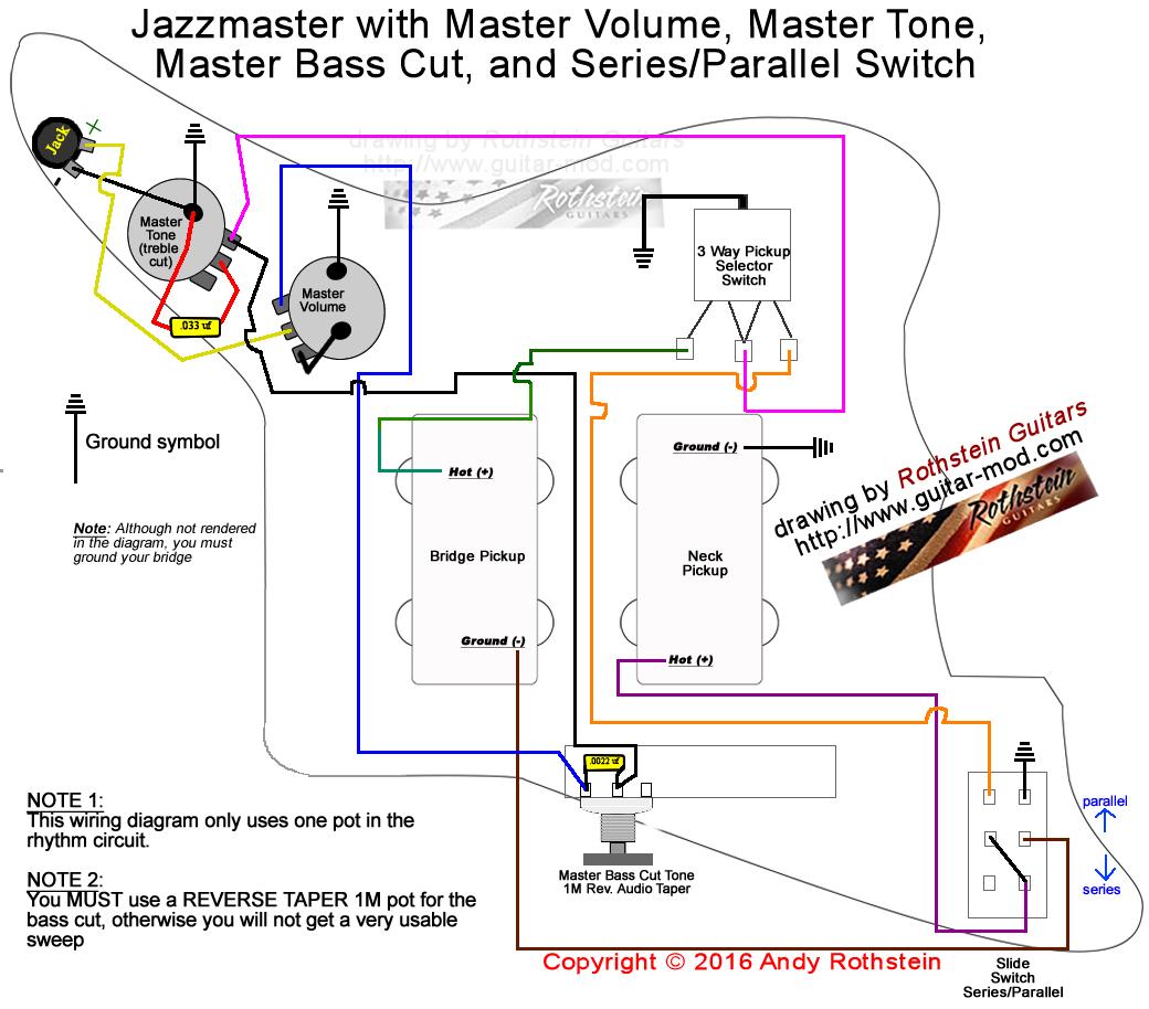 guitar pots wiring diagram vw touareg abs rothstein guitars  jazzmaster series parallel