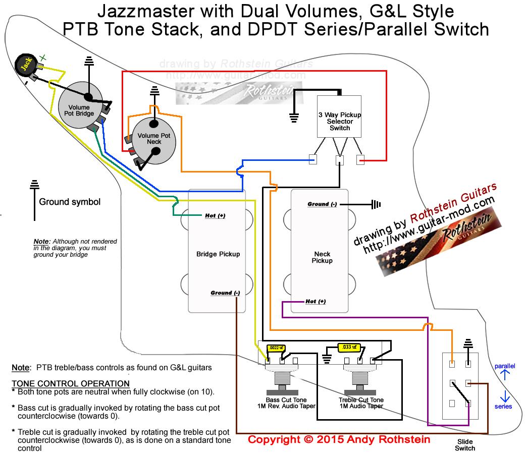 Rothstein Guitars • Jazzmaster Wiring Series Parallel