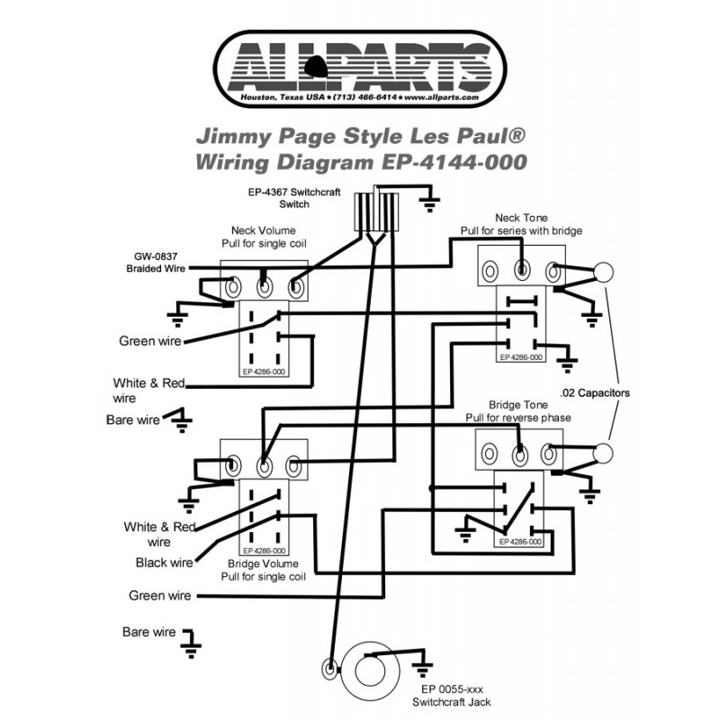 Jimmy Page Gibson Les Paul Wiring