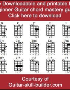 Beginner guitar chords chart pdf downloadable printable also basic that everyone uses rh skill builder