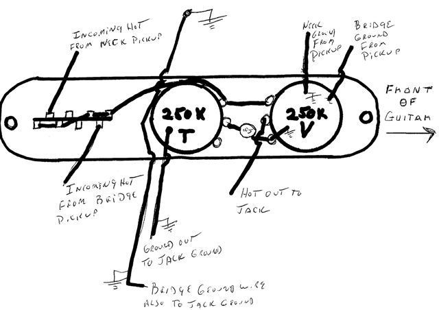Reverse Wiring Diagram For Telecaster Guitar : 44 Wiring