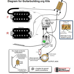 Guitar Wiring Diagrams Coil Split 4 Wire Outlet Diagram Schematics Data Schema Electronics Nissan