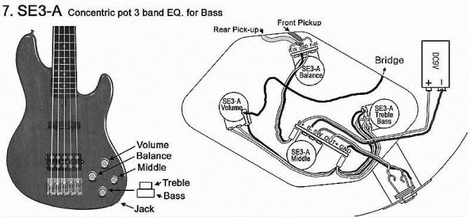diagram sss active bass pickup wiring diagram full version