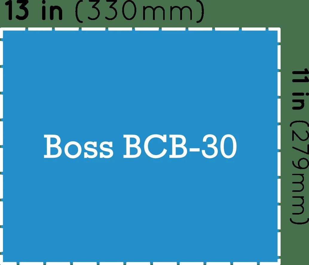 hight resolution of boss bcb 30 pedalboard dimensions