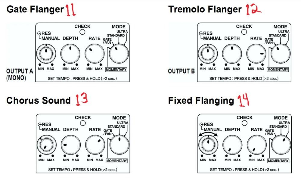 medium resolution of boss bf 3 flanger settings from manual second list