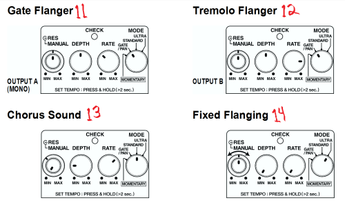 small resolution of boss bf 3 flanger settings from manual second list