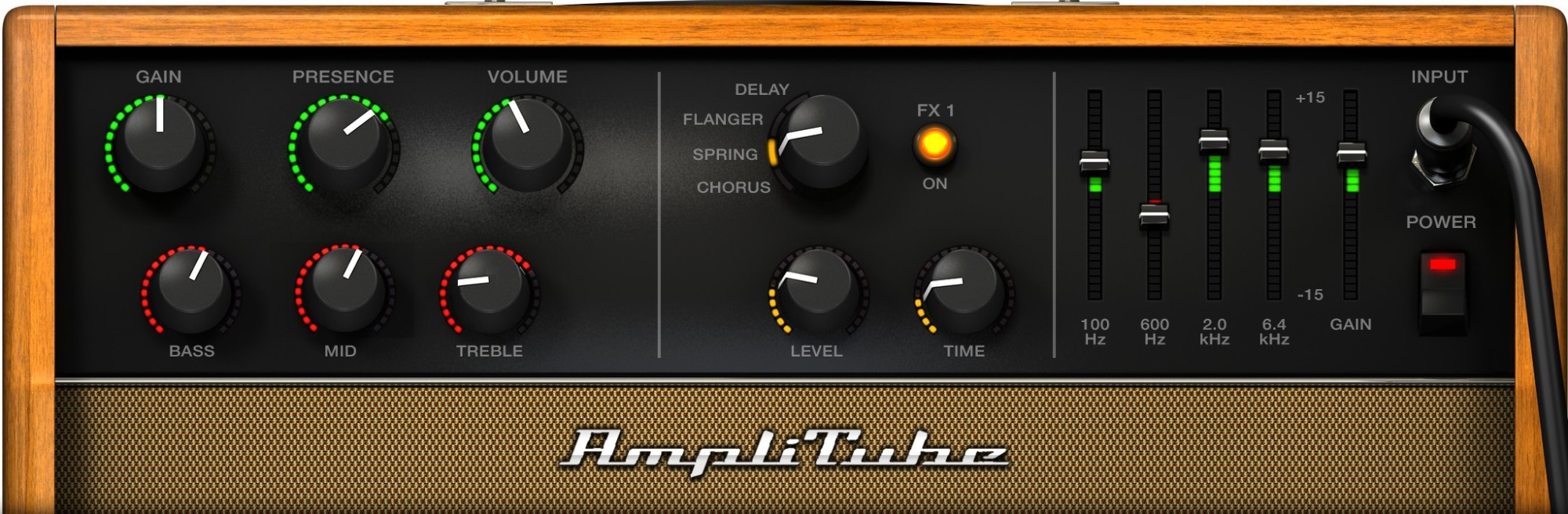 hight resolution of acoustic guitar amp settings