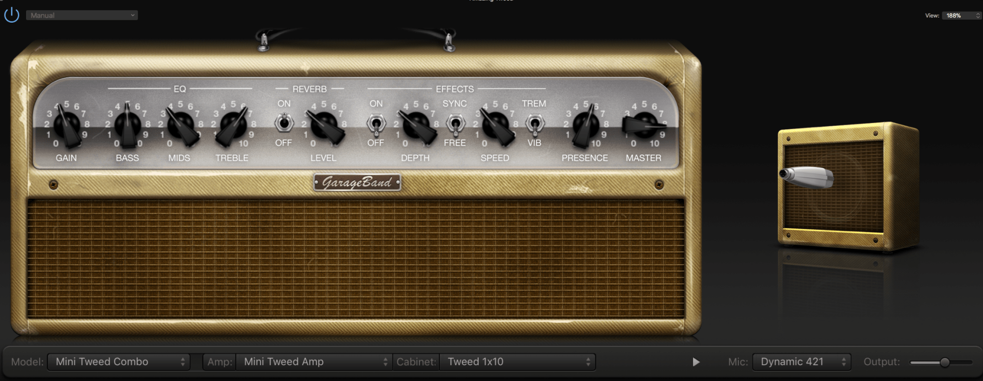 hight resolution of amp settings used for testing the upgraded epiphone sg