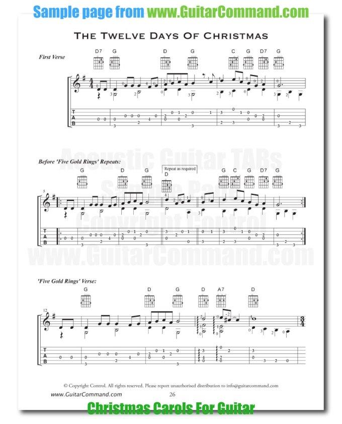 Acoustic Guitar Christmas Music Chords Christmaswalls