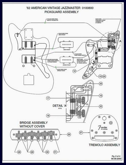 Fender 1962 Jazzmaster Wiring Diagram And Specs