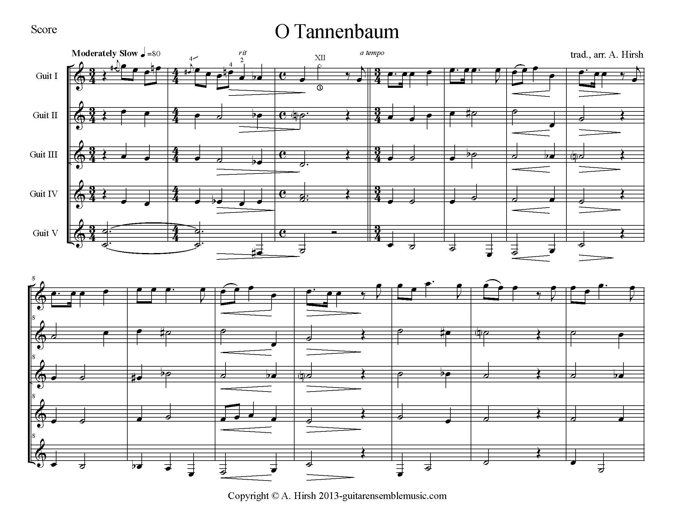 O Tannenbaum (O Christmas Tree) Jazz arr. Hirsh (E/M)