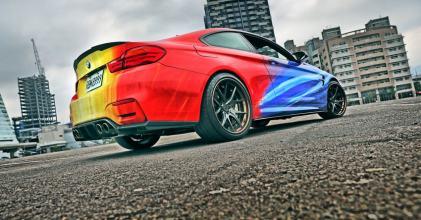 青天、白日、滿地紅 – BMW M4 貼膜換色 紀錄拍攝分享