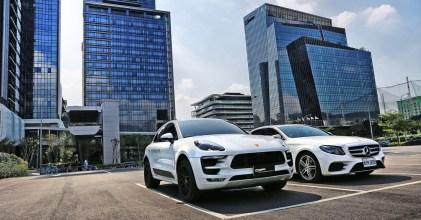 –雙白星蛙– Macan GTS & Mercedes Benz W213 E200 同場開箱拍攝