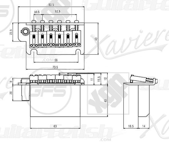 USA Strat- 2 Point Hardened Steel Upgrade Tremolo System