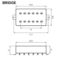 Gfs Dream 180 Wiring Diagram 3 Prong Outlet Vintage Voiced Humbucker Black Pearl Gold Bridge Position Video