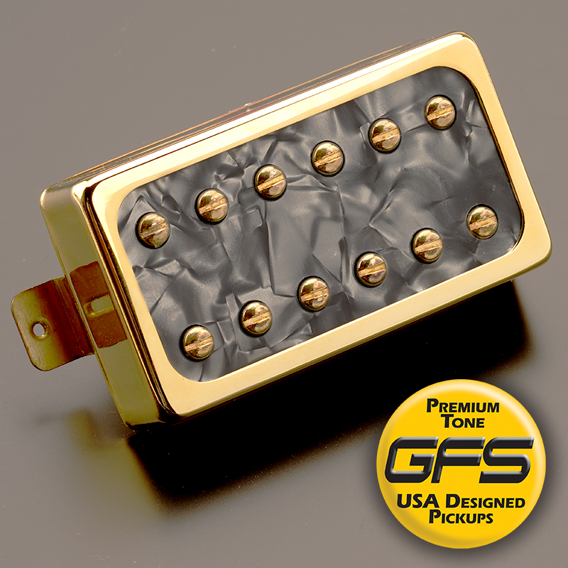 gfs dream 180 wiring diagram rear seats vw phaeton vintage voiced humbucker black pearl gold bridge position video