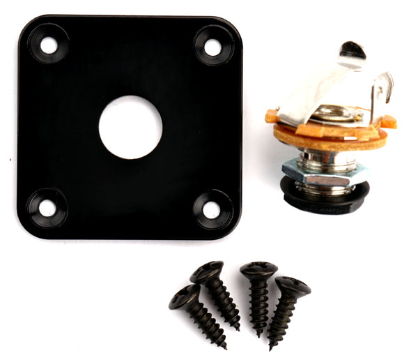Fender Stratocaster Jack Plate Wiring Square Black Output Plate Fits Les Paul 174 Telecaster 174 Fit