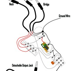 Wiring Diagram For Bass Guitar 1972 Chevelle Ac Kwikplug Hss Strat Humbucker Coil Tap Switching Harness- Pre-soldered Drop-in