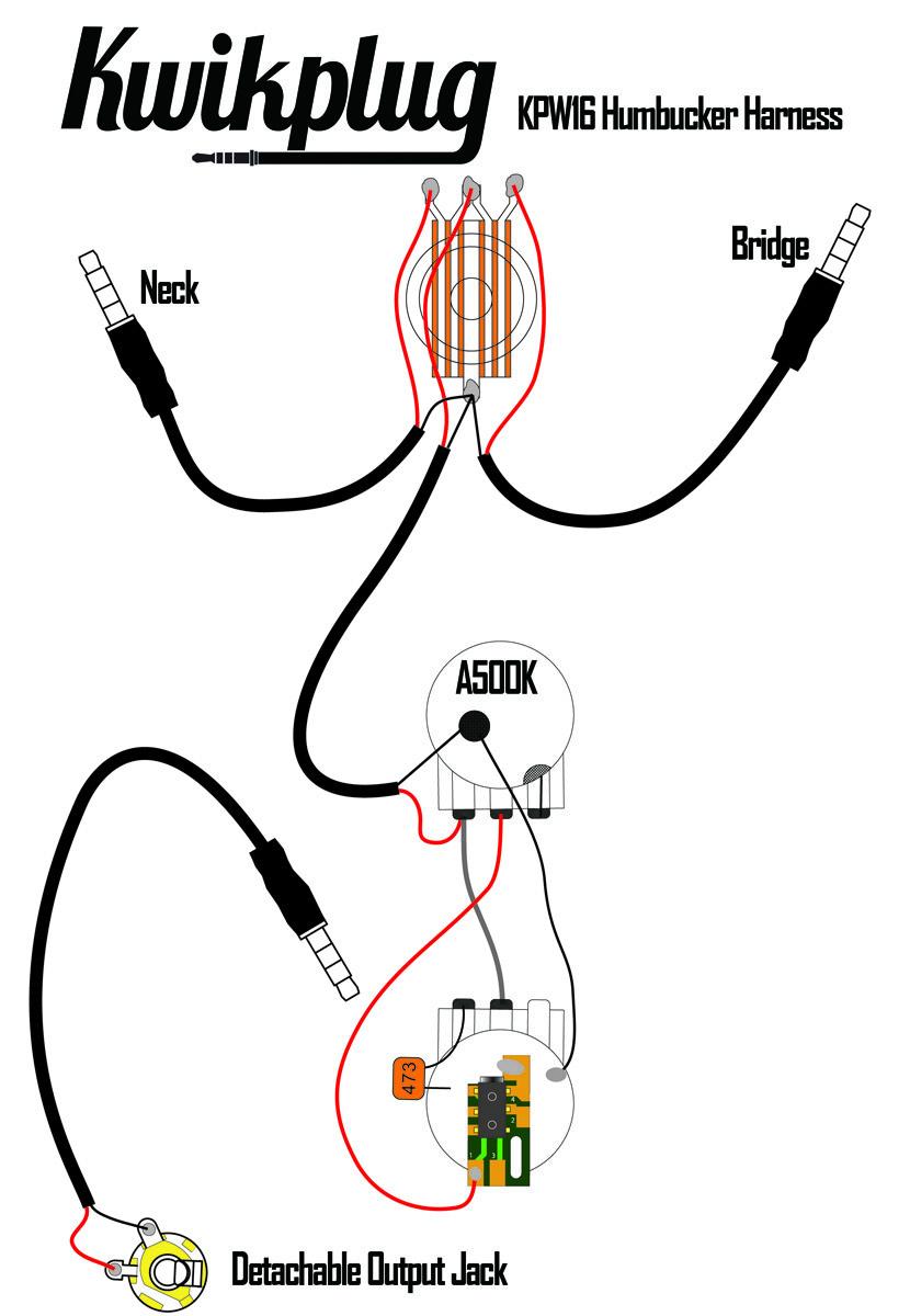 fender p bass wiring diagram car battery alternator kwikplug universal two humbucker harness- pre-soldered drop-in