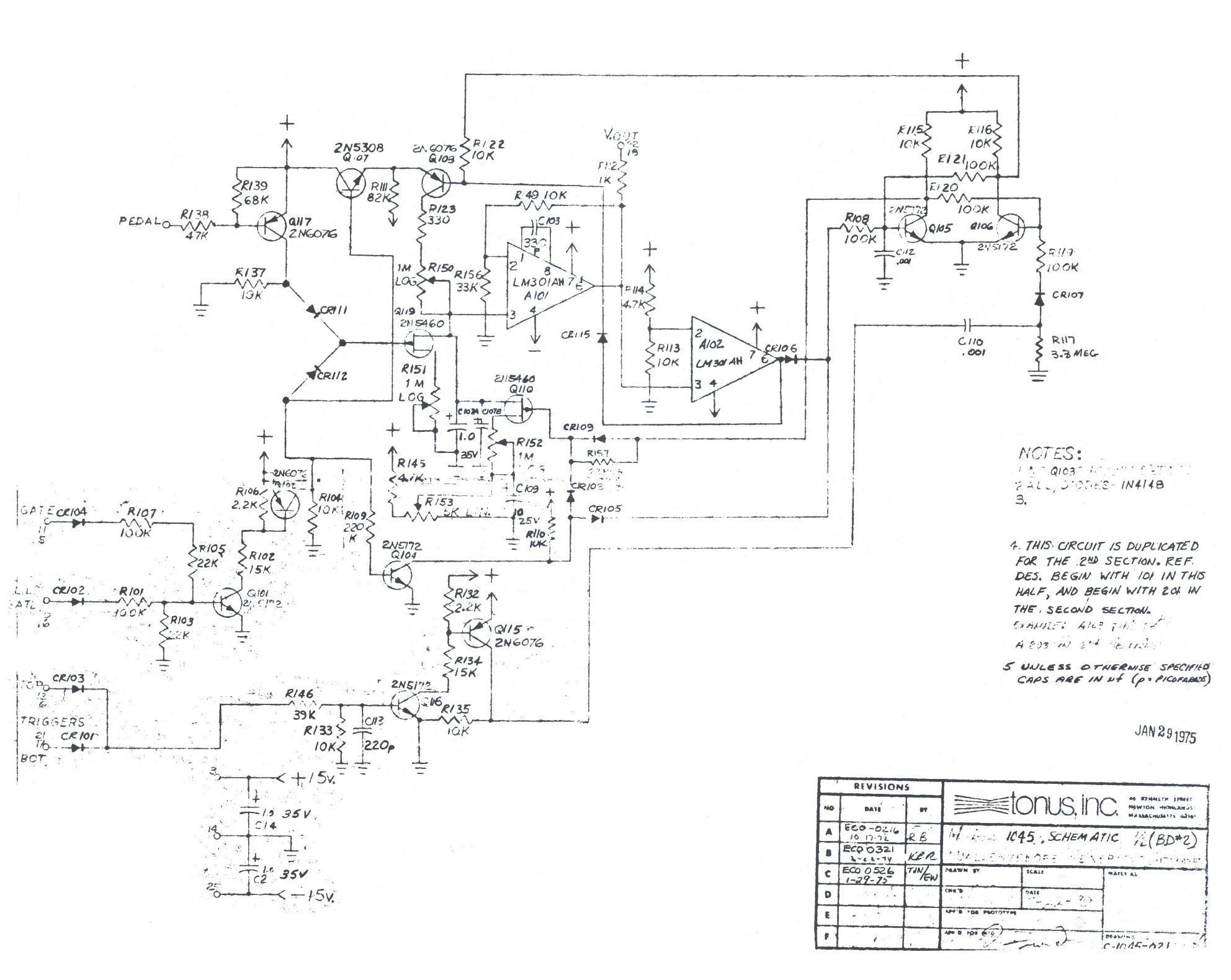 Envelope Schematic Auto Electrical Wiring Diagram The Technology Of Autowahs Envelopecontrolled Filters Arp 1045