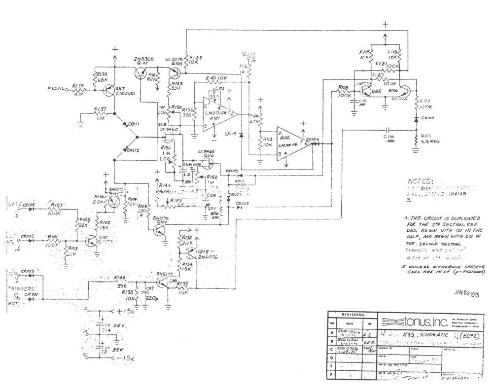 medium resolution of schematic envelope generator board click on image to download full sized version