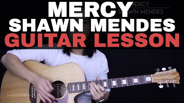 Mercy Guitar Tutorial Shawn Mendes Guitar Lesson Easy Chords