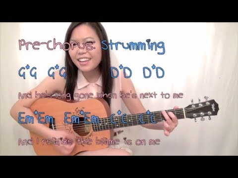 I Knew You Were Trouble Taylor Swift Easy Guitar Tutorialchords