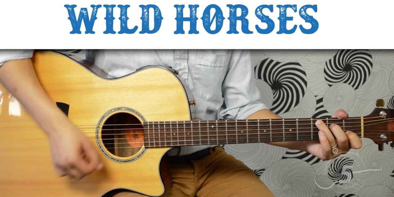 Wild Horses The Rolling Stones Easy Guitar Tutorial Basic