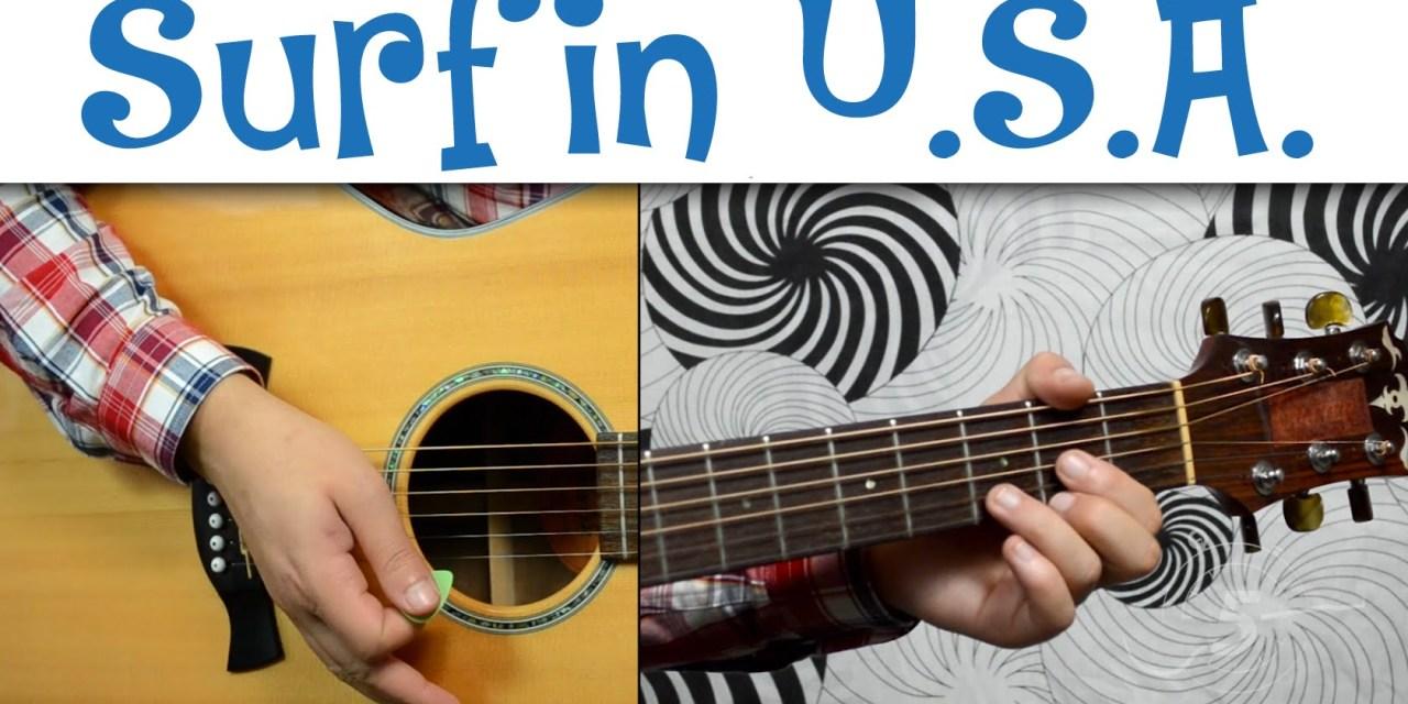 Surfin Usa The Beach Boys Easy Guitar Tutorial Simple Chords