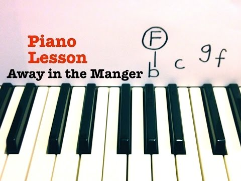 Away in a Manger ☆ PIANO TUTORIAL ☆ EASY PIANO LESSON WITH