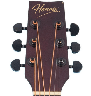 Henrix 38C Cutaway Acoustic Guitar Review of Tuners