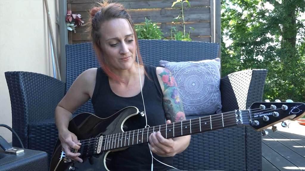Caroline Van Roos Peavey Guitar