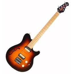 Ernie Ball Music Man Axis Super Sport Semi Hollow Electric Guitar w/ HSC 2014