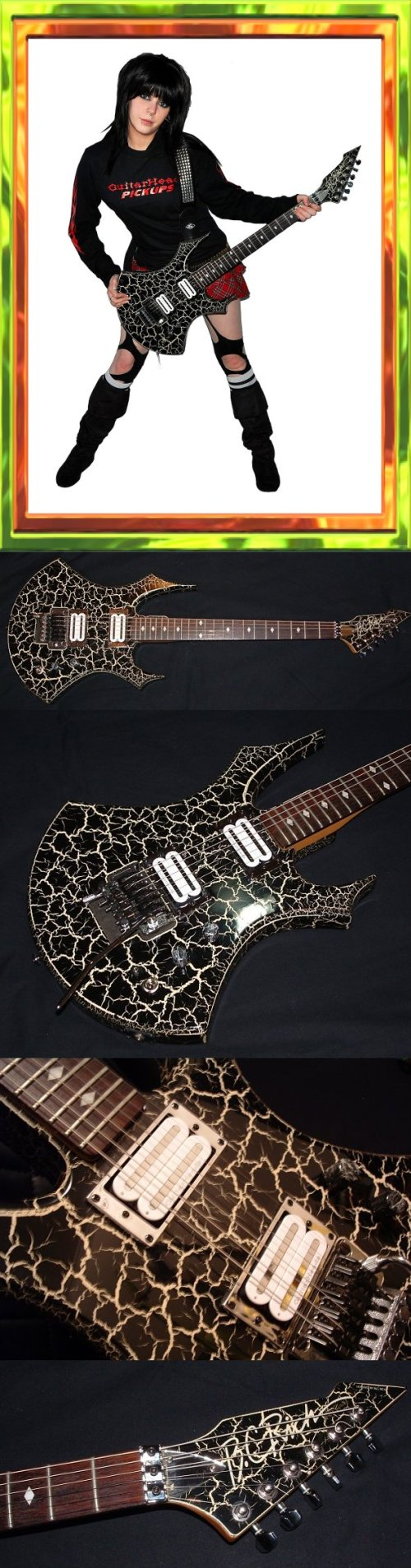 small resolution of bc rich virgin 1986 nj series w crackle finish upgraded hardware electronics custom plates