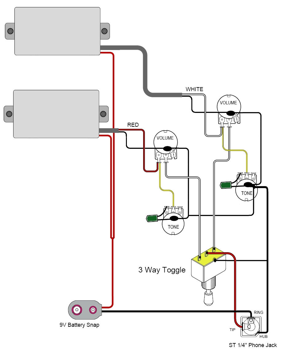 active pickup wiring emg