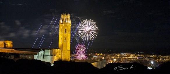 Fuegos Artificiales Castell de Lleida