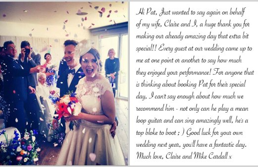 Wedding guitarist Bristol reviews - image