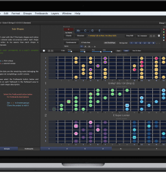 guitarlayers guitar learning software for scales chords and arpeggios [ 1500 x 875 Pixel ]
