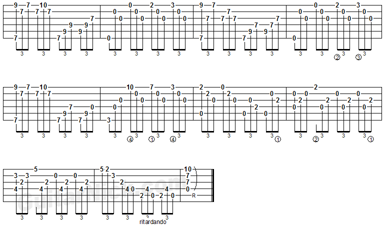 AND I LOVE HER Fingerstyle Guitar TAB: GuitarNick.com